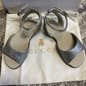 Gucci Baby Girl Silver Sandals